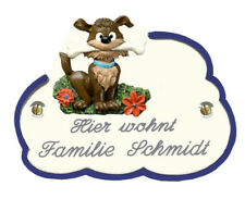 Türschild Wolke, 14x10 cm, Hund (verschiedene Motive), Bearded Collie, Retriever