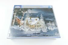 White Mountain Puzzles Friends in Winter 1000 Piece Puzzle Open Box, New