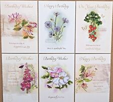 Pack of 6 Female Birthday Cards Female Ladies Floral Birthday Greeting Cards /w2