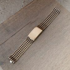 Gold Filled JB Champion Mens 18mm Vintage Mesh Watch Band Deployment 1960's
