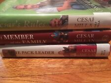 3 Cesar Millan HB Book Lot Be The Pack Leader A Member Of The Family Cesar's Way
