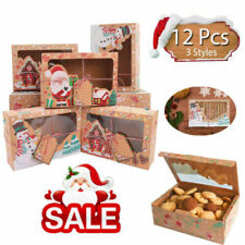 Christmas Candy Cookie Gift Boxes Cupcake Muffin Dessert Cake Party Favour Box !