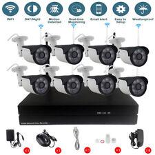 Security Outdoor 8CH Wireless Wifi NVR System IR HD 720P IP Camera CCTV Kit P2P