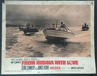 James Bond 007 in high speed boat chase From Russia with Love Lobby card 1885