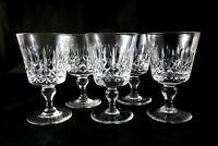 5 Stunning vintage Thomas Webb lead cut crystal wine glasses port sherry 1970s