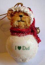Boyds-Snowbear Ornaments with Sayings-I Love Dad