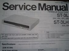 TECHNICS ST-3L ST-3LK Stereo Tuner Receiver Service manual wiring parts diagram