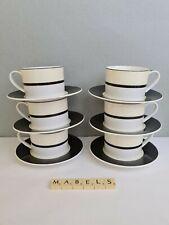 MARKS & SPENCER ~MANHATTAN~  tea cups & saucers x 6 **NEW**