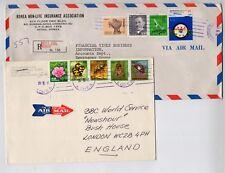 1987 & 1991 KOREA COVERS TO UK.