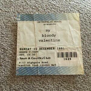My Bloody Valentine ticket Town & Country Club 15/12/91 #1629