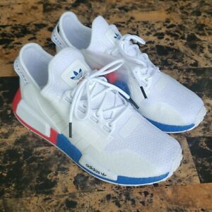 Adidas Originals Women'NMD R1 V2 Athletic Sneakers White/Red/Blue - Sz 5.5