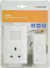 Wireless Cordless Remote Plug In Through Socket White 16 Melody Door Bell Chime