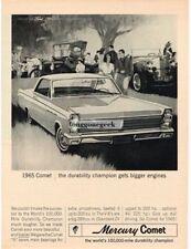 1965 Mercury Comet 2-door Hardtop antique cars art Vtg Print Ad