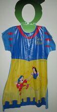 1988 Ben Cooper Snow White Costume Dress Kids Medium 8-10 Dwarf Mint