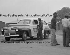 Old 1942 Photo Ford 1941 Super Deluxe New Jersey State Police/Cop Patrol Car
