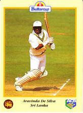 BUTTERCUP 1995 ARAVINDA DE SILVA Bat SRI LANKA, ACB Australian Cricket Card
