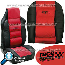 Race Sport Red Black Padded Luxury Lumber & Side Support Front Car Seat Cushion