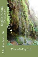 English-Kirundi Dictionary by A. H. Zemback (2010, Paperback)