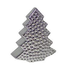 Noël Chambre Décoration 13 cm Argent Plaqué Chrome Arbre
