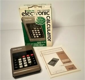 Vintage Radio Shack Calculator - Model EC-380 - CAT NO. 65-616 w/Manual in Box