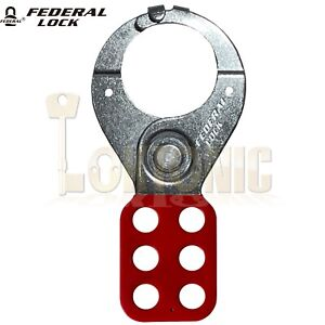 Federal Large 38mm Isolation Lock Out Hasp Electrician Safety Isolation Lock off