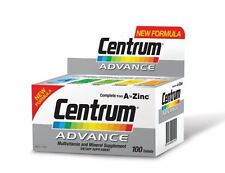 3 X Centrum Advance Multivitamin and Multiminerals 100 Tablets