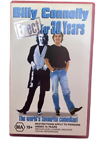 Billy Connolly Erect For 30 Years VHS  Retro Vintage Video Cassette