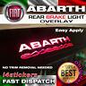 FIAT 500 ABARTH ESSEESSE LOGO 3rd BRAKE LIGHT DECAL STICKER GRAPHIC x 1 IN BLACK