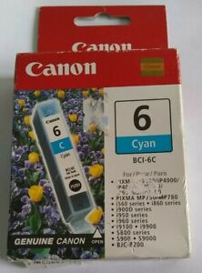 Canon BCI-6C Cyan Ink Cartridge  GENUINE NEW