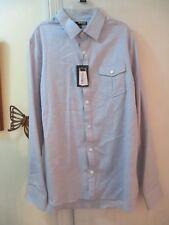 Murano  Blue 100% Cotton Dress Shirt - Slim Fit  Size L - L/Sleeves - New w/Tags