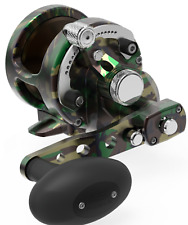 Avet SXJ6/4 Raptor Green Camo 2-Speed Lever Drag Casting Reel