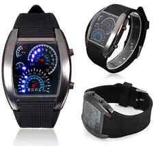Stainless Steel Sport Digital LED Date Analog Wrist Watch Fashion Men Black ONE