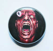 """1"""" (25mm) Scary Eye Popping Horror Button Badge"""
