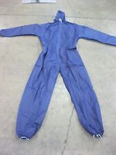 BLUE DISPOSABLE PROTECTIVE SUIT WITH ELASTIC CUFFS AND HOOD 3 XL PAINT CLEAN UP