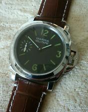 Marina Militare reloj asia unitas 6497 funcionan, carcasa de acero inoxidable pulido-nuevo