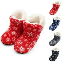 Fashion Women's Winter Flat Cotton Coral fleece Shoes Boot Home Ladies Boots