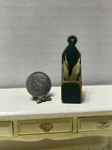Vintage Artisan BBE Aged Wood Candle Box & Candles Dollhouse Miniature 1:12