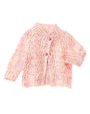 NWT Gymboree Girls Fun Flurries Neon Confetti Cardigan Sweater Size 3-6 M