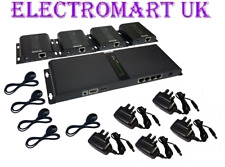 4 WAY HDMI OVER A SINGLE CAT5E CAT6 CABLE INFRA RED CHANNEL CHANGE EXTENDER 120M
