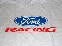 NEW MENS FORD RACING SIZE LARGE OR XXL GREY TEE SHIRT! NASCAR NHRA!