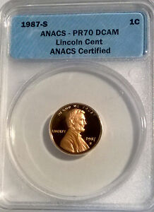 1987-S Lincoln Cent Proof   ANACS PR70 DCAM  #364