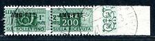 TRIEST A PAKET 1949 23Ur gestempelt UNGEZÄHNT rechts SASSONE 2250€(E8061