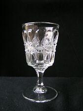 Bowtie goblet clear Thompson Glass EAPG