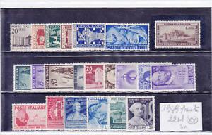 ITALIA REPUBBLICA 1949 ANNATA COMPLETA 22 VALORI LUSSO