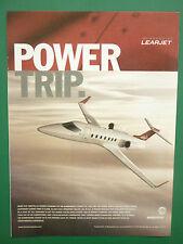6/2004 PUB BOMBARDIER LEARJET REGIONAL AIRCRAFT BUSINESS JET ORIGINAL ADVERT