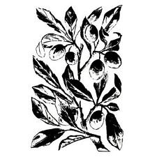 PLUM BRANCH unmounted rubber stamp, Autumn harvest #1