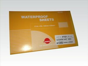 SUNMIGHT Wet and Dry, waterproof sheets, 140mm x 230mm - 1200grit