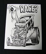 Rat Fink Ed Big Daddy Roth vintage RACE poster print Model T Hotrod VonDutch