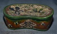 """6,6 """"oreiller fleur de palais de la céramique  Chine ancienne Tang Sancai rare"""