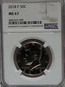 2018 P Kennedy Half Dollar 50c NGC MS67